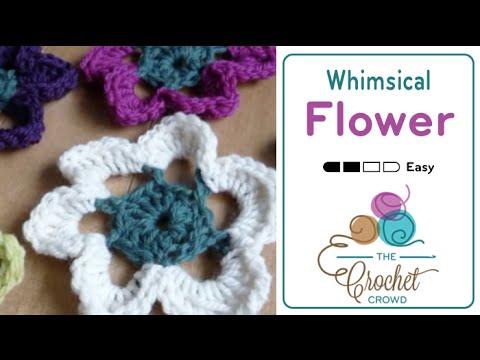 How To Crochet A Flower Large Whimsical Flower Youtube