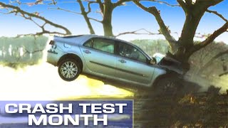 Crash Test Month: Crashing Into A Tree At 55mph