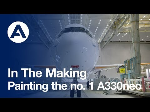 In the making: Painting the no. 1 A330neo