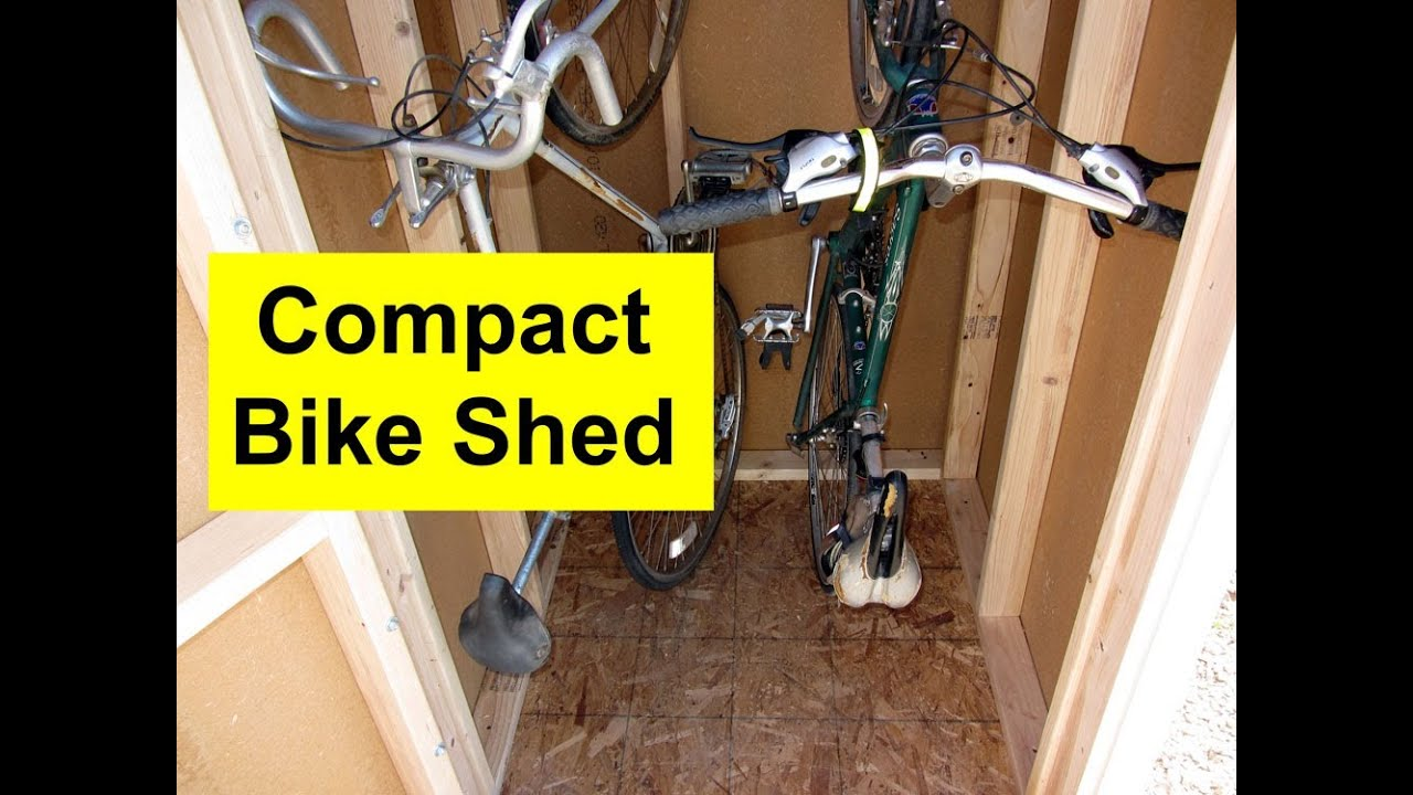 build a bike shed 1 floor youtube. Black Bedroom Furniture Sets. Home Design Ideas