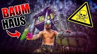 ÜBERNACHTUNG BAUMHAUS im Dschungel bauen #005 - Unge Survival Challenge - Bushcraft | Fritz Meinecke
