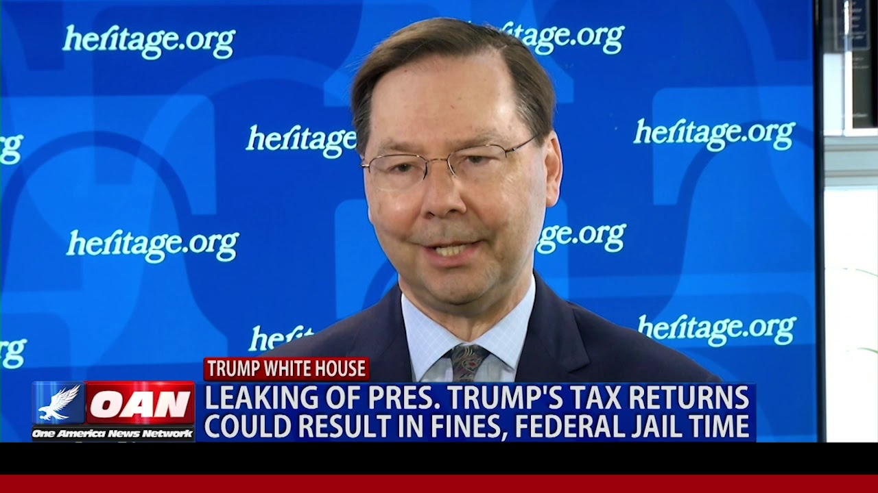 OAN 5/14/2019 Leaking of Trump tax returns could result in fines, federal jail time
