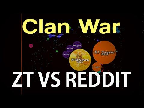 Agar.io // ZT vs Reddit // Agario Clan War [4v4]