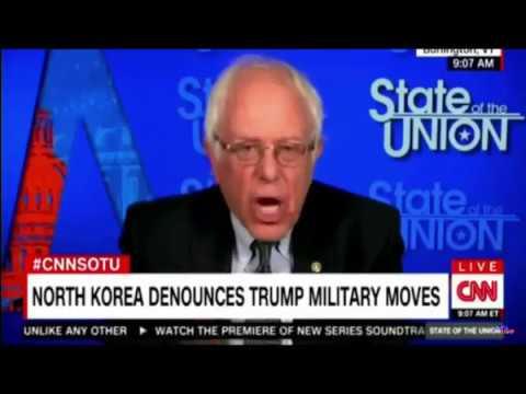 Bernie Sanders SOTU Syria Strikes , North Korea, Trump Taxes and Airline Travel