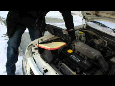 change air filter opel astra youtube