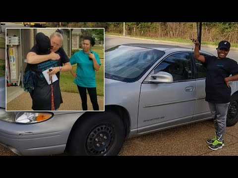 Cleaning Woman Cries After She's Surprised With Car Gift From Employers
