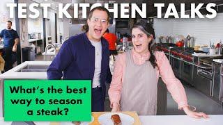 Download Professional Chefs Answer 14 Common Steak Questions | Test Kitchen Talks | Bon Appétit Mp3 and Videos