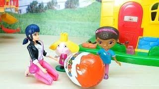 LA DOTTORESSA PELUCHE LADYBUG BEN E HOLLY - 3 amiche e un ovetto Kinder con una bellissima sorpresa