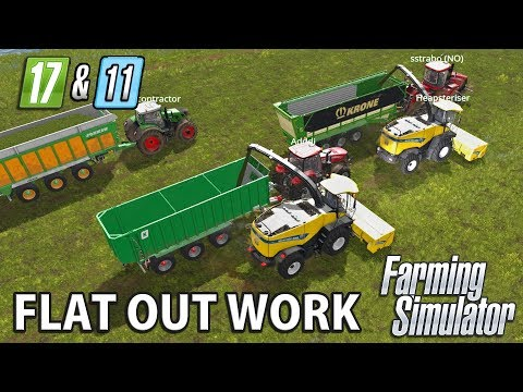 FLAT OUT WORK   Farming Simulator 17 on FS11 Map - Ep 4