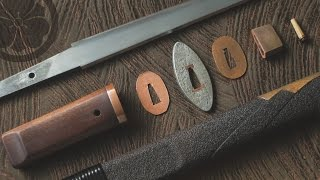 One bamboo peg - takedown & assembly of a classical tanto style knife