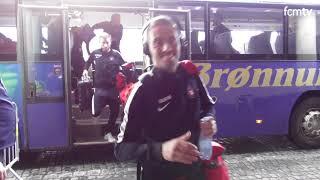 Ankomst til Brøndby stadion