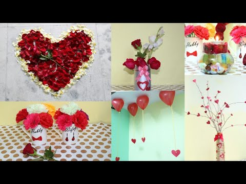 Romantic Room Decoration ideas/6 Easy DIY Valentine's Day Room Decoration Ideas/Diy room decor