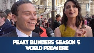 Peaky Blinders Season 5 Birmingham World Premiere - Red Carpet Interviews