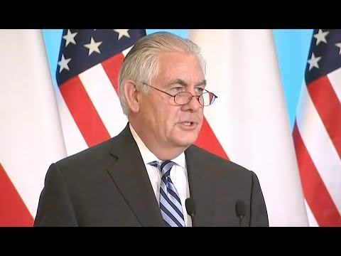 Rex Tillerson In Poland - Full News Conference