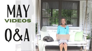 May Recap Video ~ Do I ever rest? ~ Will I be in the Vintage Fair? ~ My Favorite White Paint Color