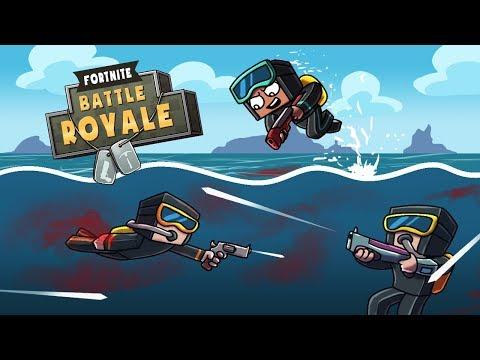 Minecraft Fortnite - AMAZING UNDERWATER FINALE! (Fortnite Battle Royale)