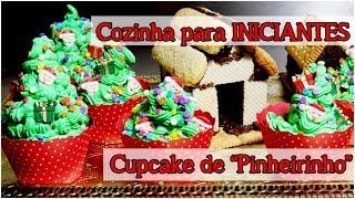 Cupcake de Arvore de Natal – Cozinha para Iniciantes – Mag Matsumoto