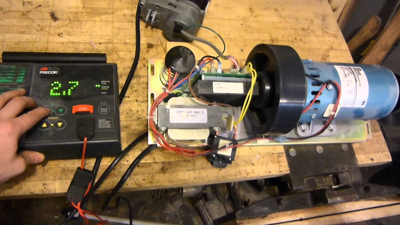 1 5hp dc treadmill motor with working controller