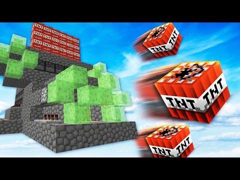 INSANE OP SLIME CANNON DESTROYS EVERYTHING! | Minecraft TNT WARS w/ LandonMC & Dawn