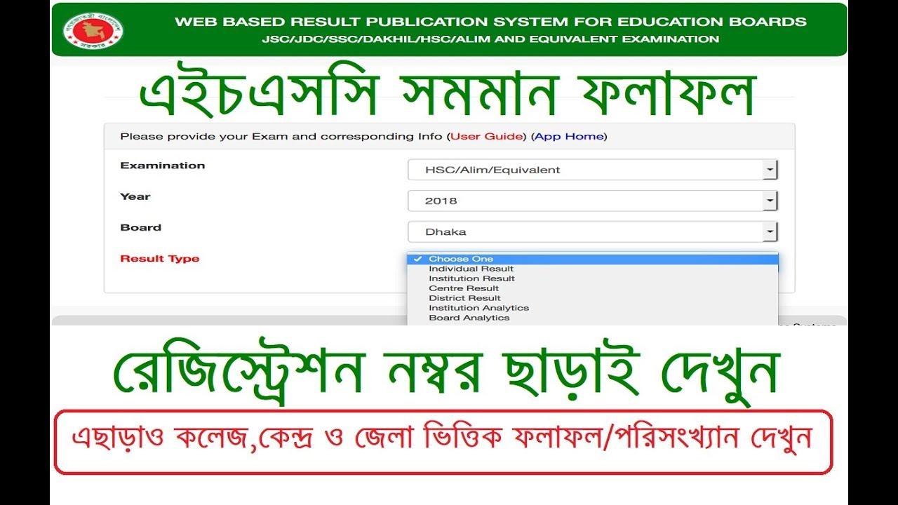 HSC Result 2019 All Education Board in Bangladesh - Lekhapora BD