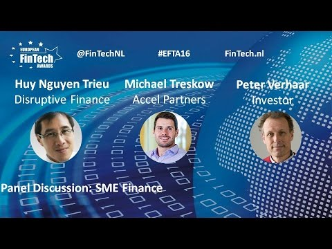 SME Finance panel discussion at European FinTech Awards & Conference 2016 Amsterdam