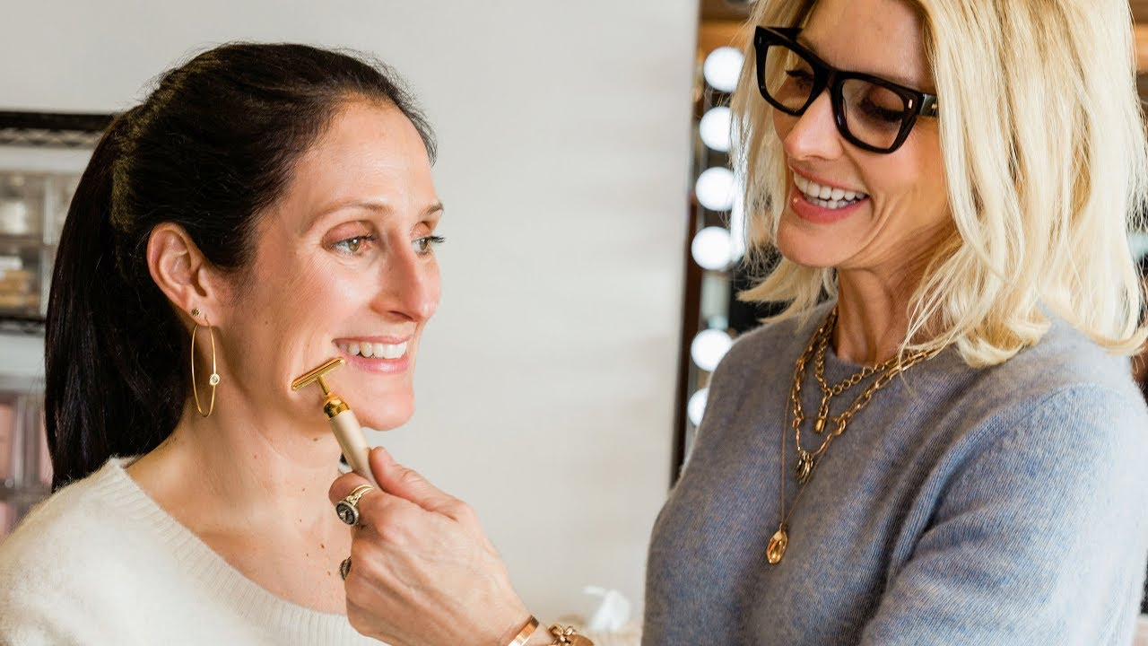 How To Use The Jillian Dempsey Gold Bar Face Sculpting Tutorial Goop
