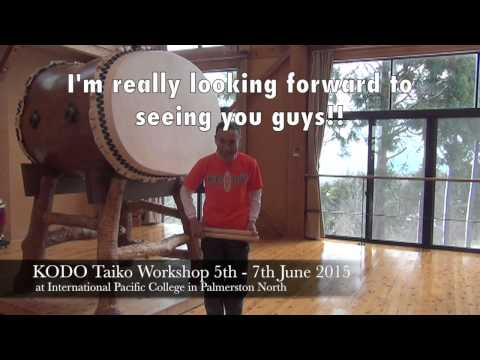 KODO Taiko Workshop in NZ 2015