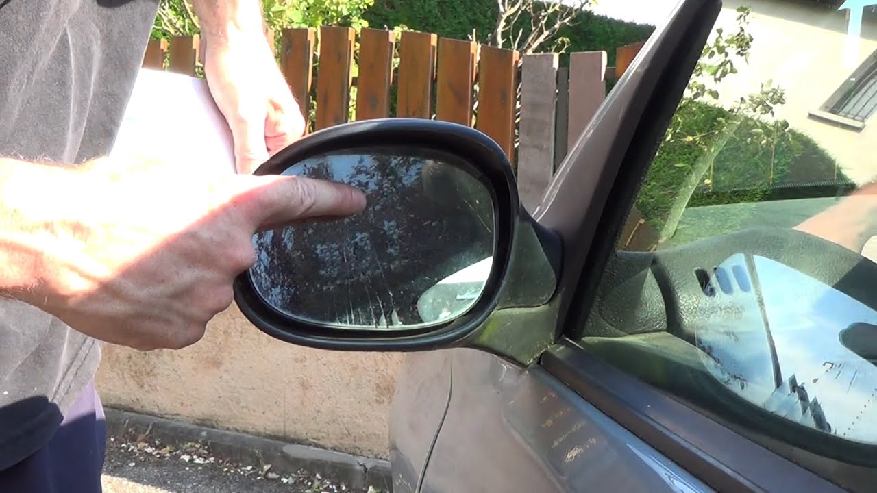 1 minute to replace a side mirror glass youtube for Mirror video