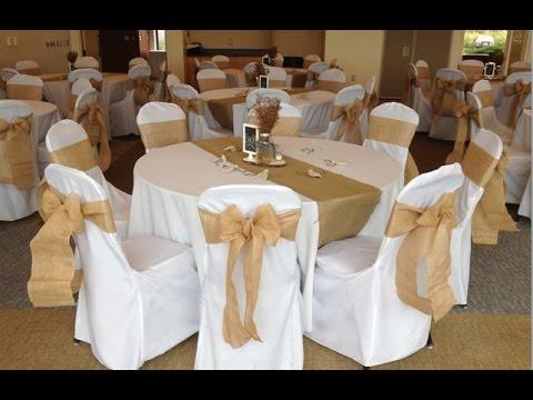 Burlap Wedding Chair Sashes  YouTube