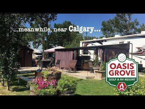 Oasis Grove RV Resort Near Calgary