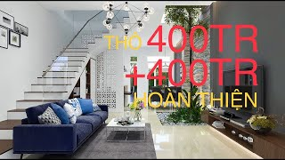 The Apartment 3 floors, 5m x 10m, Mini house with 4 bedrooms only 30.000 $, Beautifully designed