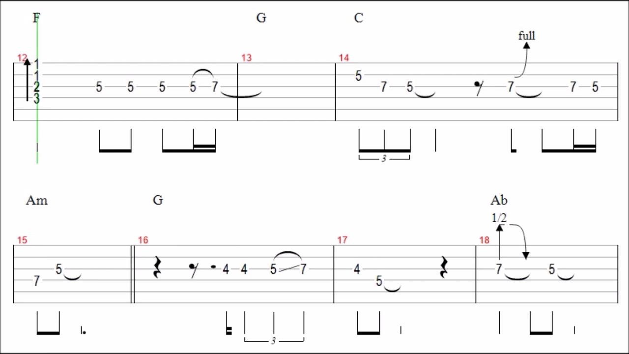 Uriah Heep Rain Guitar Solo Tab Backingtrack Youtube