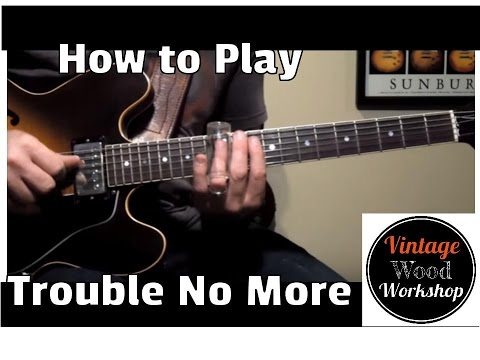 Trouble No More- Allman Brothers Guitar Lesson