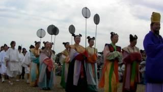 2010年5月9日、平城宮跡で行われた「天平行列」、 伎楽隊・聖武天皇列・...