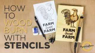 Wood Burning Techniques - Rooster Pyrography Pattern by Pyrocrafters