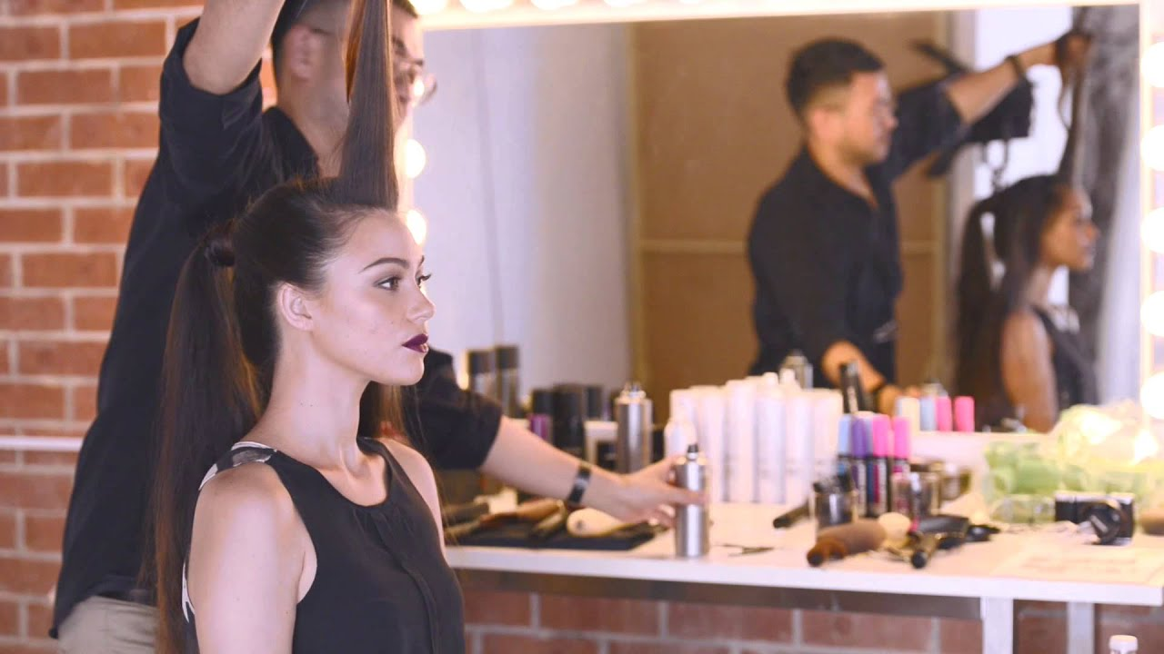 hair how to: rockstar ponytail with back comb quiff