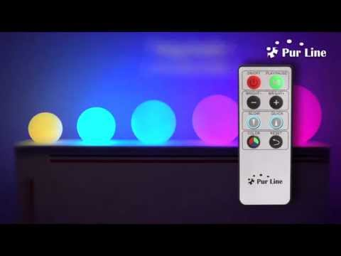 Bolas led purline sin cables para piscinas jardines o for Luces para jardin sin cables