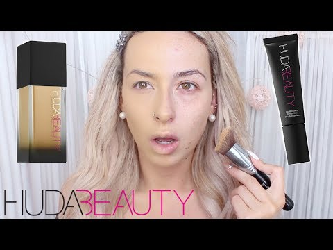Max coverage?! HUDA BEAUTY FAUX FILTER FOUNDATION (Review & Demo!) 10HOUR wear test | DramaticMAC