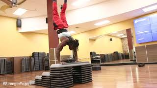 Handstand Obstacle fun and Calisthenics Bodyweight Training with Alseny + Arash