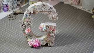 "Project Share~ Shabby Altered Letter ""G""  DTP Gina"
