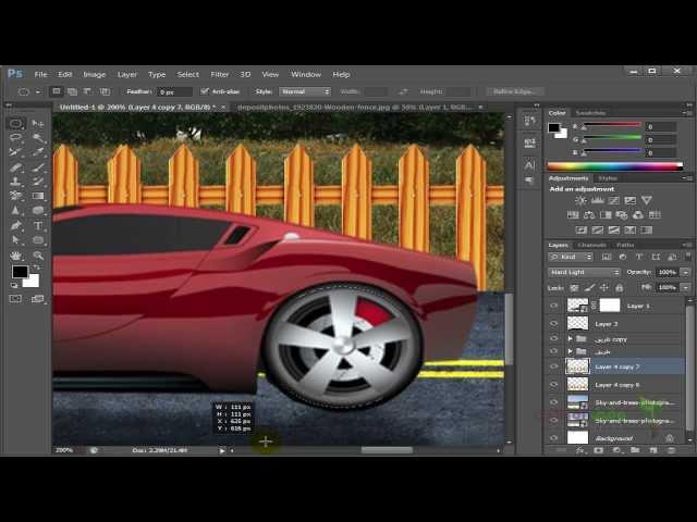 Adobe Photoshop cs6- 90- عمل تأثير لوني علي التصميم