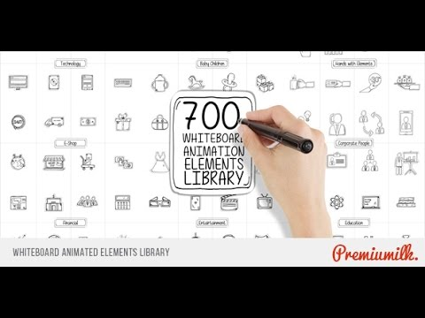 whiteboard animated elements library after effects template youtube
