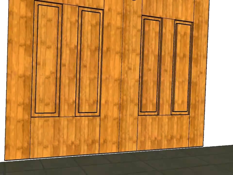 Puerta 2 hojas 6 cuarterones carpinteria santa clara youtube - Carpinteria santa clara ...