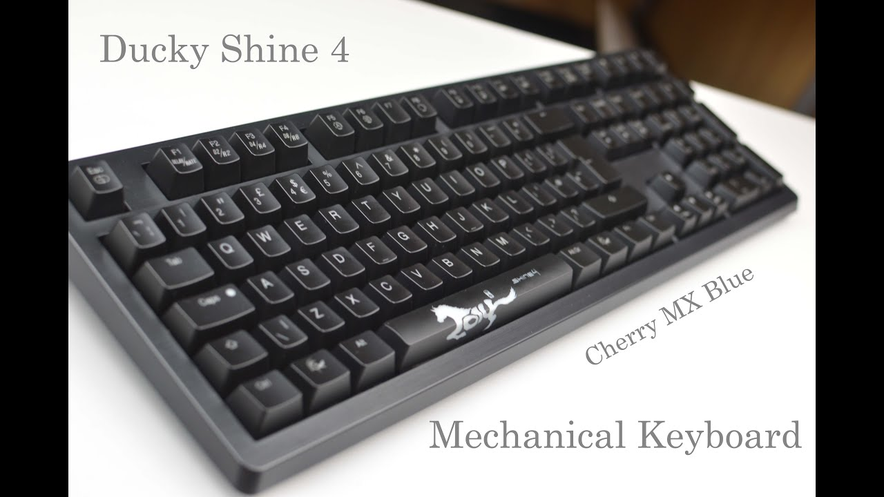 55bcd8c8bd Ducky Shine 4 - Mechanical keyboard Unboxing and Overview (MX Blue ...
