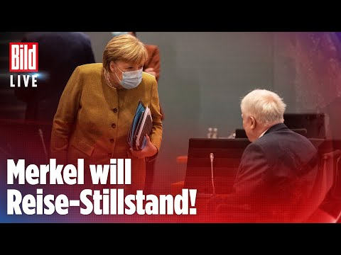 🔴 Dramatische Pläne: Kanzlerin Merkel will Reisen drastisch einschränken| BILD LIVE