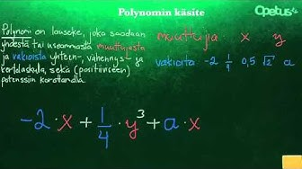 Polynomin käsite