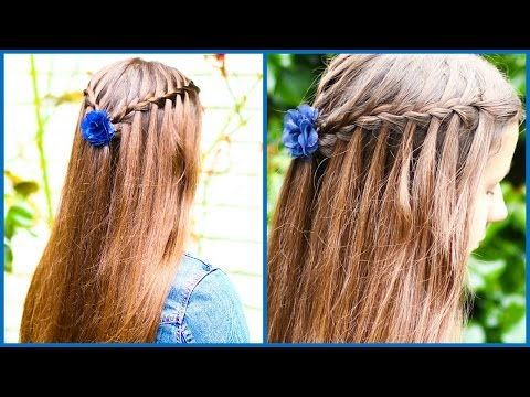 How To WATERFALL BRAID for Beginners
