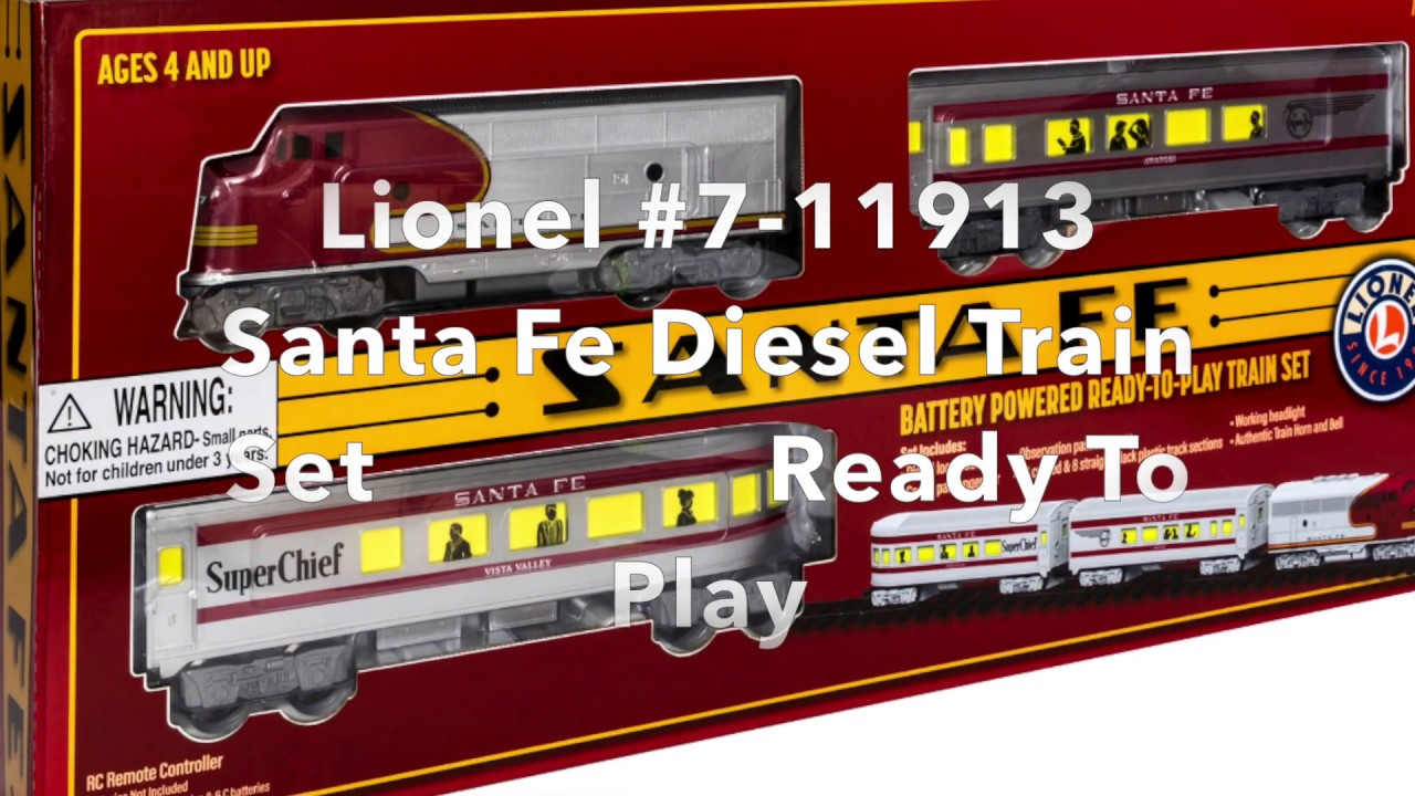Lionel Trains 7-11913 Santa Fe Diesel Passenger Ready To Play Set