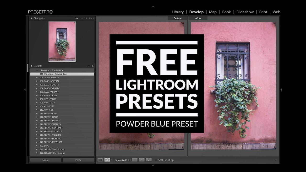 Free Lightroom Preset   Powder Blue - Presetpro com