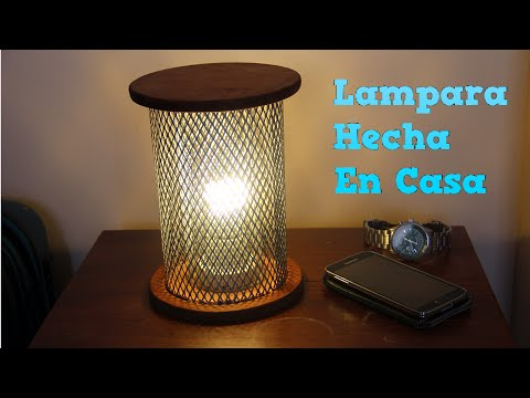 Como hacer lampara en casa reciclando filtro de aire - Como hacer lamparas ...